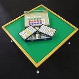 折りたたみ麻雀卓(引出しなし)+麻雀牌竹セット