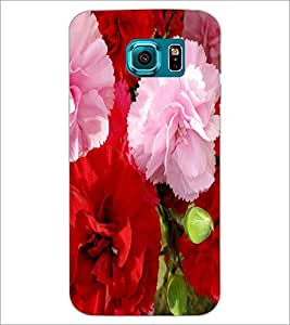 PrintDhaba Flowers D-2400 Back Case Cover for SAMSUNG GALAXY S6 (Multi-Coloured)