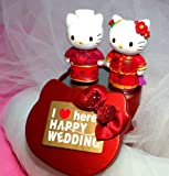 Hello Kitty and Daniel Chinese Wedding Cake Topper in Gift Tin
