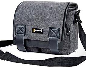 NOVAGEA ROne-shoulder Camera Bag for Canon Nikon  Coffee