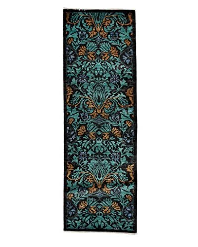 Solo Rugs Arts & Crafts Rug, Turquoise/Aqua, 2' 7 x 7' 10 Runner