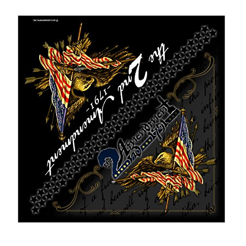 Hot Leathers 2nd Amendment Bandana (Multi Color, 21