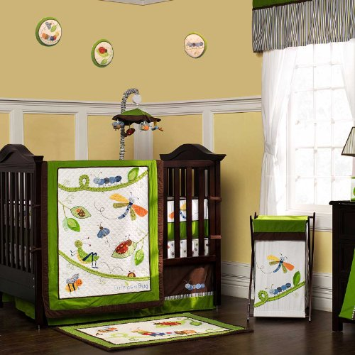 Cute As A Bug 9 Piece Baby Crib Bedding Set With Bumper By Kidsline front-64966
