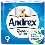 Andrex Classic Toilet Tissue - White,...
