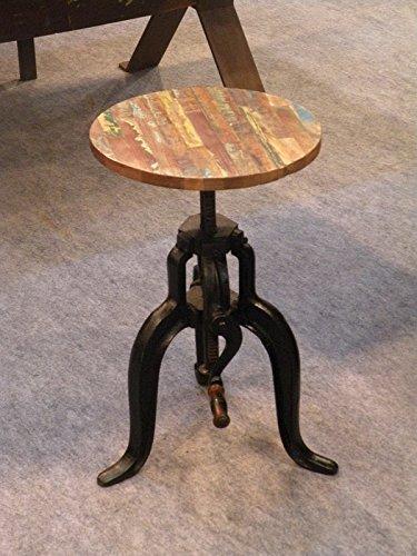 Muebles macizos estilo Industrial Taburete Viejo roble Hierro laqueado madera maciza industrial #02