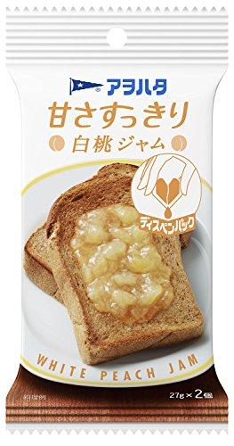 アヲハタ 甘さすっきり白桃ジャム (27g×2)×5個