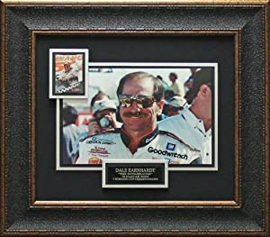 Signed Earnhardt Sr. Photograph - Collectors Card Collage matted framed - Autographed... by Sports Memorabilia
