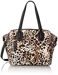 Nine West Zip N Go Tote Shoulder Bag, Toasted Almond, One Size