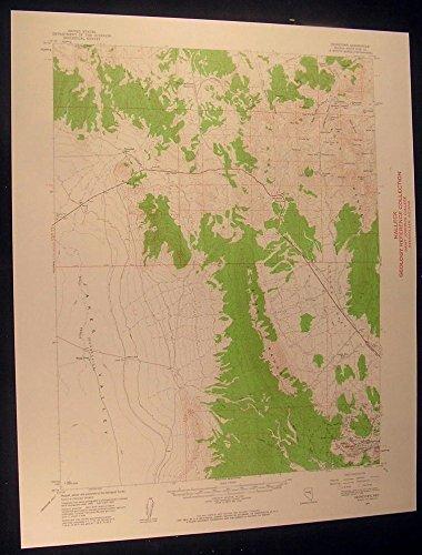Reipetown Nevada Kimberly Veteran Pit 1961 vintage USGS original Topo chart map