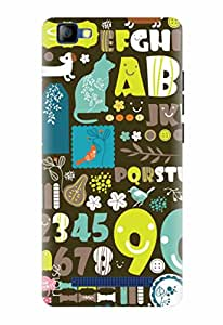Noise Designer Printed Case / Cover for LYF FLAME 8 / Patterns & Ethnic / Alpha & Numeric Design