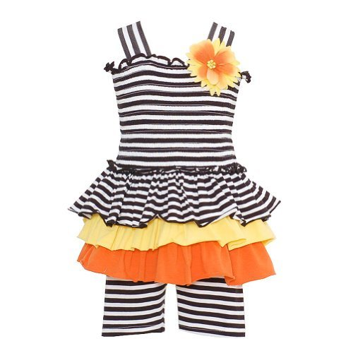 Baby-Girls Bonnie Baby Striped Smocked Sun Dress Set 12M (M12105) front-1018377