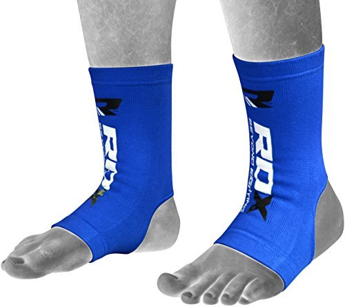 RDX MMA Ankle Brace Foot Guard Boxing Protector Achilles Tendon Support Pain Pad