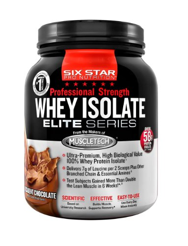 Six Star Pro Nutrition PS Whey Isolate, Decadent Chocolate, 1.5 Pounds
