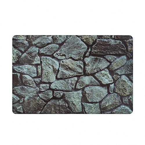 Dr.X Stones Non-woven PVC Doormats Cover Non-Slip Machine Washable Outdoor Indoor Bathroom Kitchen Decor Rug All Area Mat(17.5*27.5-inch)