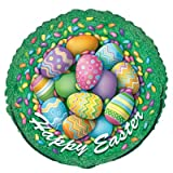 Happy Easter Eggs 18 Inch Round Foil Balloon