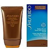 Shiseido Brilliant Bronze Tinted Self-Tanning Cream for Unisex, Medium Tan, 1.7 Ounce