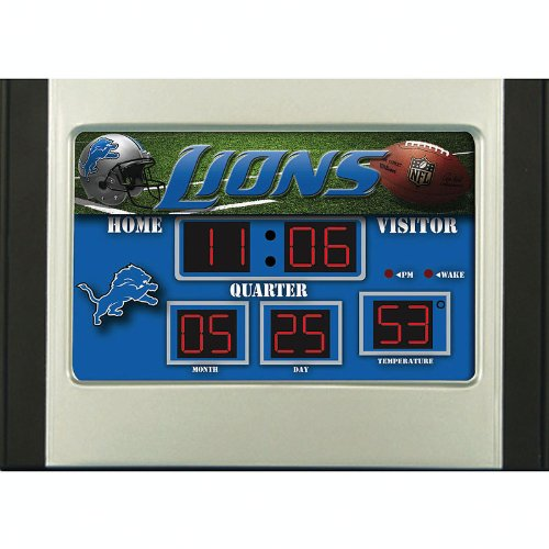 Detroit Lions Alarm Clock Desk Scoreboard
