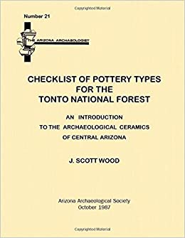 Checklist of Pottery Types for the Tonto National Forest: Arizona
