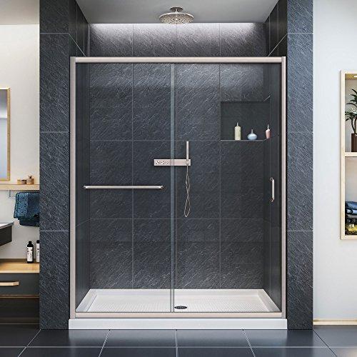 DreamLine Infinity-Z 56-60 in. Width, Frameless Sliding Shower Door, 1/4