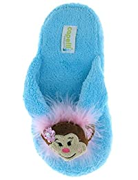 Capelli New York Chamois Thong With Monkey 3d Icon Indoor Slipper