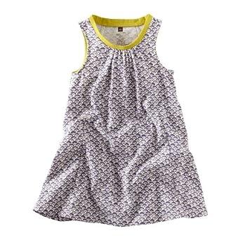 Tea Collection Baby-Girls Infant Waves Batik Trapeze Dress, Shadow, Large