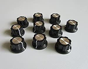 guitar effects pedal knobs push on knob fits boss effects black w chrome cap 10. Black Bedroom Furniture Sets. Home Design Ideas