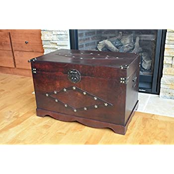 Jamestown Chest Wooden Steamer Trunk - Large Trunk