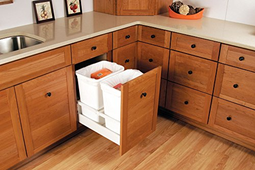 Rev a shelf twcsc 1850dm 2 double 50 qt white pull for Canac kitchen cabinets for sale