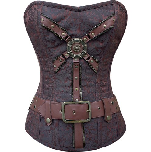Corset CD-793: Fully Steel Boned Steampunk Corset Floral Poly
