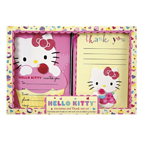 Hello Kitty Invitations and Thank You Notes - 1