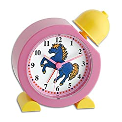 La Crosse Technology 60.1011.12 TFA Electronic Childrens Bell Alarm Clock with Pony