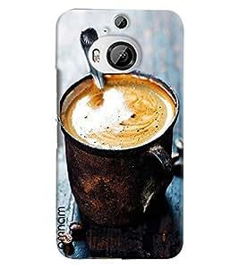 Omnam Coffer Mug Full Of Coffee Designer Back Cover Case For HTC One M9 Plus