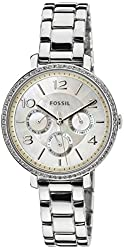 Fossil Women's ES3755 Jacqueline Crystal-Accented Stainless Steel Watch with Link Bracelet