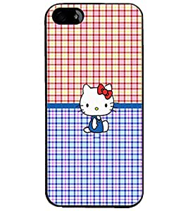 PrintDhaba Kitty D-5041 Back Case Cover for APPLE IPHONE 4 (Multi-Coloured)