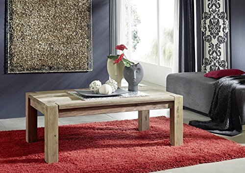 Sheesham in legno massello tavolino da salotto 120x70 palissandro mobili NATURALE GRIGIO #09