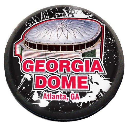 """NFL Atlanta Falcons, Georgia Dome in 2"""" Crystal magnet with Colored Window Gift Box"""