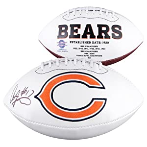 Alshon Jeffery Chicago Bears Autographed White Panel Football - Memories - Mounted... by Sports Memorabilia