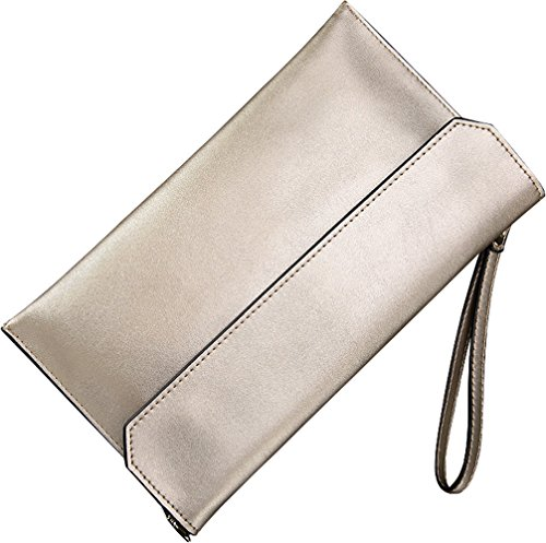 Covelin-Womens-Wristlet-Clutch-Handbag-Genuine-Leather-Envelope-Evening-Shoulder-Bags