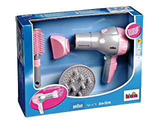 Braun Hair Dryer with Diffuser and Hairbrush