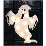 Halloween Shimmer Lighted Window Ghost