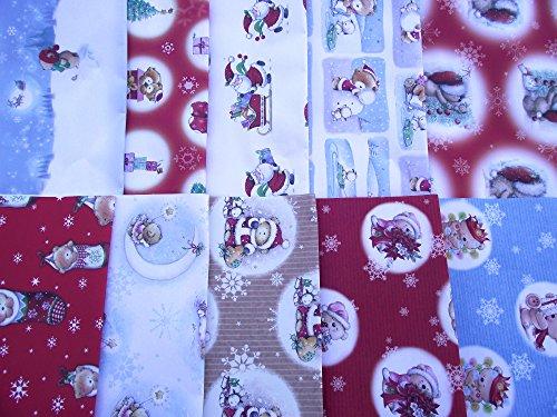 20 fogli di SVEGLIA - BAMBINI - ORSO carta da regalo natalizia - (2 confezioni da 10)