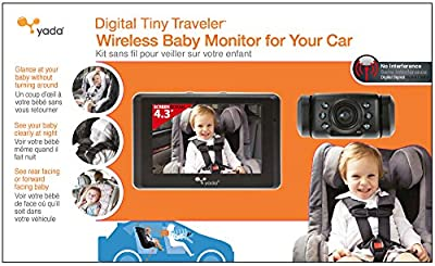 Yada BT53901F-2 Matte Black 4.3 Inch Tiny Traveler Digital Wireless Baby