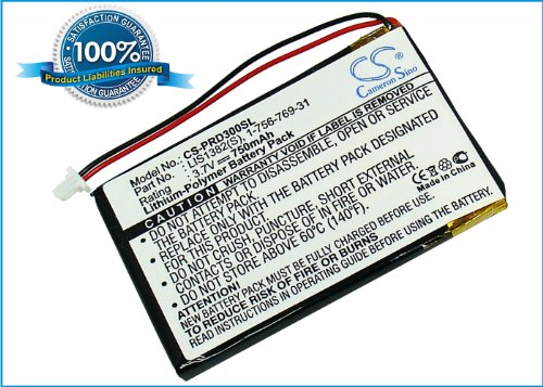 750mAh Li-PL Ereader Battery For Sony PRS-300, PRS-300SC, PRS-300RC, PRS-300BC from CAMERON SINO
