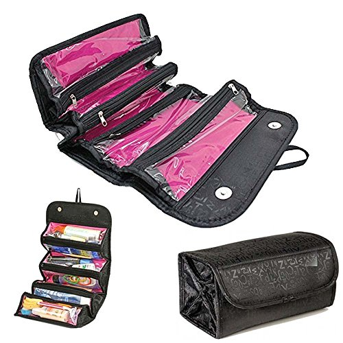 beneu-makeup-bag-cosmetic-organizer-roll-n-go-roll-up-foldable-clear-case-pouch-toiletry-organizer-m