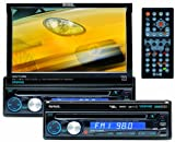 Sound Storm Laboratories SD715MB Bluetooth Enabled In-Dash DVD/MP3/CD Receiver with Motorized Flip-Out 7-Inch Widescreen Touchscreen TFT Monitor with USB