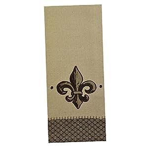 Fleur de lis embellished kitchen towels set of 2 home kitchen - Fleur de lis bath towels ...