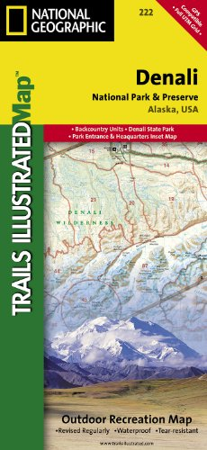 Denali National Park and Preserve (National Geographic: Trails Illustrated Map #222)