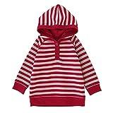sunveno Kids Sudadera de algodón bebé colorido Jersey Cálido Jersey para el bebé 3-24meses Red strip Talla:0