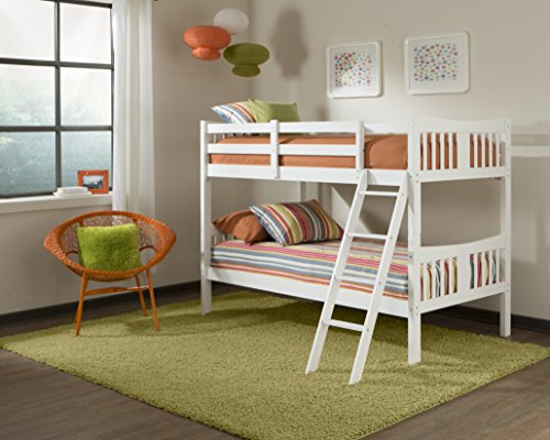 Stork craft caribou bunk bed white my home for Stork craft caribou bunk bed