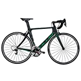 Blue Bicycles AC1 EX SRAM Force 22 Gear Road Bicycle, Large, Black/Green